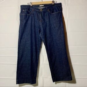 Eileen Fisher wide leg crop denim size XL